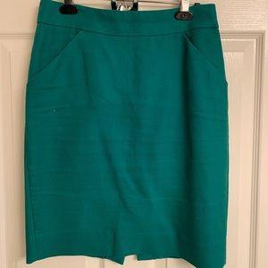 A line knee length j crew skirt